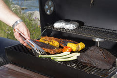 Barbeque grill outdoor Stock Images