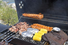 Barbeque grill outdoor Royalty Free Stock Images