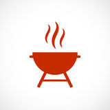 Barbeque grill vector icon. Illustration stock illustration