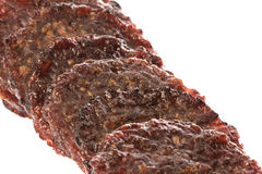 Barbeque Grilled Beef Coins Isolated Royalty Free Stock Photography