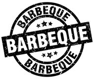Barbeque stamp. Barbeque grunge stamp on white background stock illustration