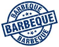 Barbeque stamp. Barbeque grunge stamp on white background vector illustration