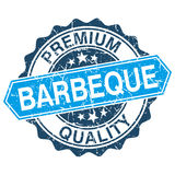 Barbeque grungy stamp. Isolated on white background vector illustration