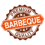 Barbeque grungy stamp on white background vector illustration