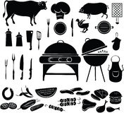 Barbeque Icon Set Royalty Free Stock Photography