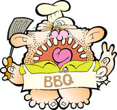 Barbeque man Royalty Free Stock Images