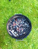 Barbeque lawn. Barbeque on lawn Royalty Free Stock Image