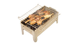 Barbeque of mutton chops Stock Images