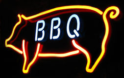 Barbeque neon sign Royalty Free Stock Image