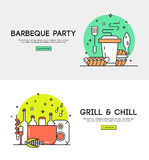 Barbeque party illustration vector illustration