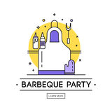 Barbeque party illustration royalty free illustration