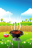 Barbeque party poster. A vector illustration of barbeque party poster design Stock Image