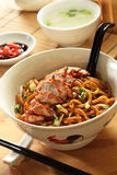 Barbeque Pork Noodle Stock Photography