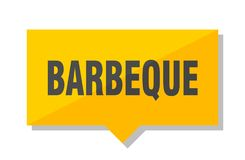 Barbeque price tag. Barbeque yellow square price tag vector illustration