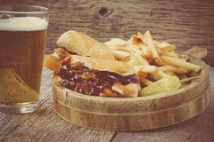 Barbeque Pulled Pork Sandwich with BBQ Sauce Royalty Free Stock Photos