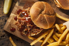 Barbeque Pulled Pork Sandwich Royalty Free Stock Photos