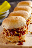 Barbeque Pulled Pork Sandwiches Stock Photos