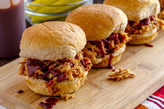 Barbeque Pulled Pork Sandwiches Royalty Free Stock Photos