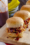 Barbeque Pulled Pork Sandwiches Royalty Free Stock Photo
