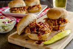 Barbeque Pulled Pork Sandwiches Royalty Free Stock Images