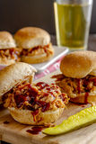 Barbeque Pulled Pork Sandwiches Stock Photography