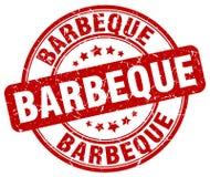 Barbeque red grunge round vintage stamp. Barbeque red grunge round vintage rubber stamp stock illustration