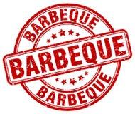 Barbeque red grunge round vintage stamp. Barbeque red grunge round vintage rubber stamp vector illustration