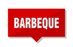 Barbeque red tag. Barbeque red square price tag vector illustration