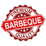 Barbeque red vintage stamp. Isolated on white background vector illustration