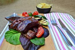 Barbeque ribs Stock Images