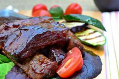 Barbeque ribs Royalty Free Stock Photos