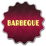 BARBEQUE round badge. Illustration graphic concept image stock illustration