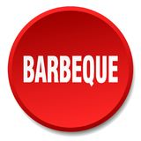 Barbeque button. Barbeque round button isolated on white background. barbeque royalty free illustration