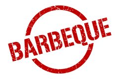 Barbeque stamp. Barbeque round grunge stamp. barbeque sign. barbeque royalty free illustration