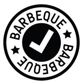 Barbeque rubber stamp royalty free illustration