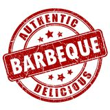 Barbeque rubber stamp. Illustration isolated on white background stock illustration