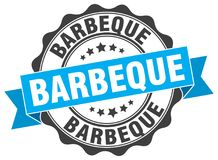 Barbeque seal. stamp. Barbeque round seal isolated on white background. barbeque vector illustration