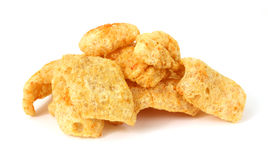 Barbeque seasoned pork rinds Royalty Free Stock Photos