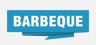 Barbeque. Sign.  paper origami speech bubble.  tag.  banner vector illustration