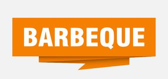 Barbeque. Sign.  paper origami speech bubble.  tag.  banner stock illustration