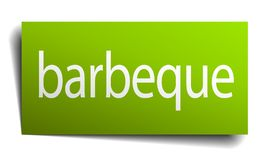 Barbeque sign. Barbeque square paper sign isolated on white background. barbeque button. barbeque vector illustration