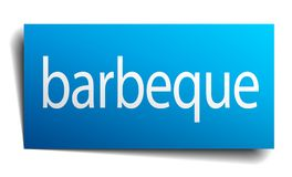 Barbeque sign. Barbeque square paper sign isolated on white background. barbeque button. barbeque royalty free illustration