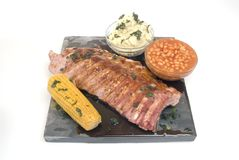 Barbeque spare rib dinner Stock Photography