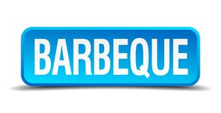 Barbeque button. Barbeque square 3d realistic isolated web button. barbeque vector illustration