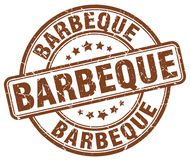 Barbeque stamp. Barbeque grunge stamp on white background vector illustration