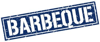 Barbeque stamp. Barbeque square grunge sign isolated on white. barbeque royalty free illustration