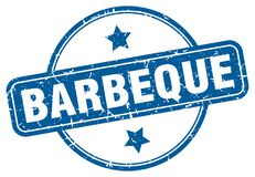 barbeque stamp vector illustration
