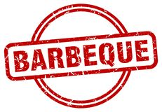 Barbeque stamp. Barbeque grunge vintage stamp isolated on white background. barbeque. sign stock illustration