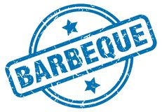 barbeque stamp vector illustration