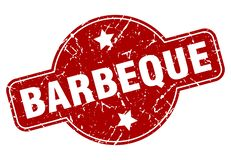 barbeque stamp stock illustration